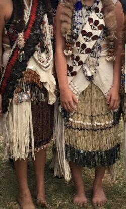 Young Women from Karuk Womens Camp at Sregon Brushdance. Photo courtesy the Tripp/Allen family.